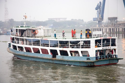 Stock Photo: 1886-48833 Cruise boat in  Burigunga Buri Gunga River ; Sadarghat Boat terminal ; Dhaka ;  Bangladesh