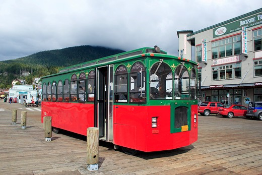 Stock Photo: 1886-48941 Public bus ; Ketchikan ; Alaska ; U.S.A. United States of America