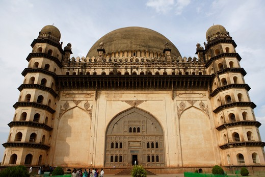 Gol Gumbaz ; built in 1659 ; Mausoleum of Muhammad Adil Shah ii 1627-57 ; dome is second largest one in world which is unsupported by any pillars ; Bijapur ; Karnataka ; India : Stock Photo