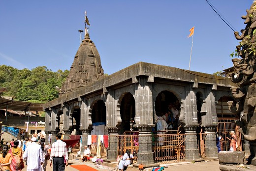Stock Photo: 1886-49431 Lord Shiva shankar temple ; Bhimashankar ; one of the twelve Jyotirlingas ; Pune; Maharashtra ; India