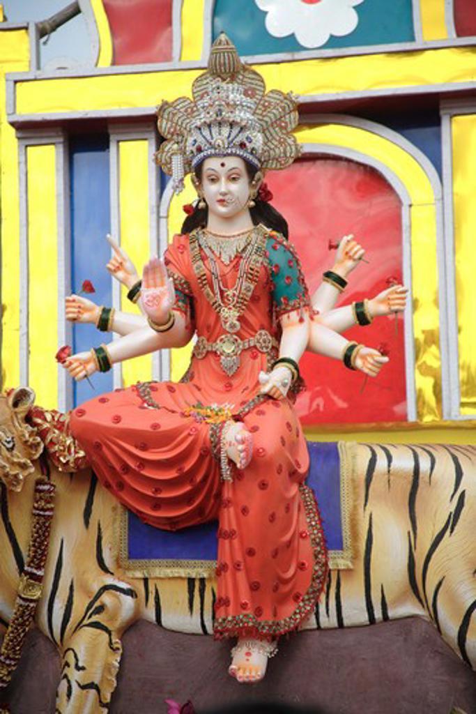 Stock Photo: 1886-49752 Navaratri dandiya garba Festival ; Procession of Ma Ambadevi ; Bhavani Devi from Kalwa to Tembhi Naka ; Thane ; Maharashtra ; India ; NO MR ; NO PR