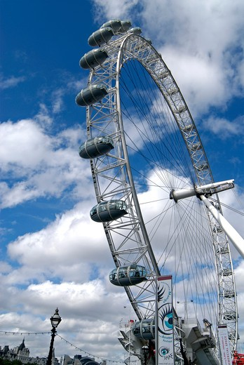 Stock Photo: 1886-50090 London Eye ; London ; U.K. United Kingdom England