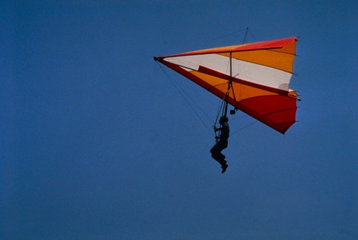 Hang gliding. : Stock Photo