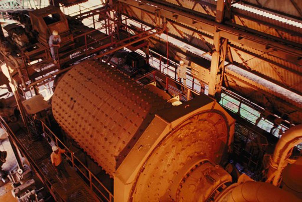 Ball mill;  Heavy engineering : Stock Photo