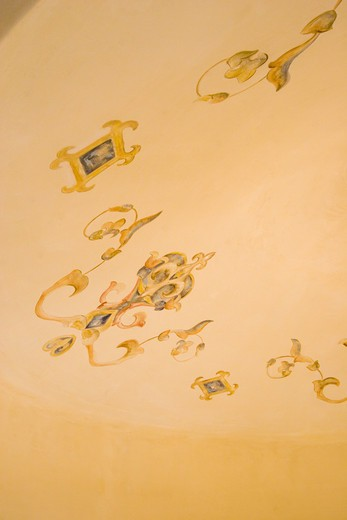 Stock Photo: 1886-50393 Hand painted DOME CEILING with traditional European design - CALIFORNIA LUXURY HOME