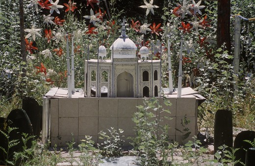 TAJ MAHAL in EL DESAFIO, a recycling outdoor museum in the GUINNESS BOOK OF RECORDS - GAIMAN,  PATAGONIA, ARGENTINA : Stock Photo