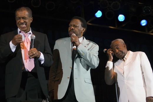 The 4 KINGS OF RHYTHM & BLUES perform at the MONTEREY BAY BLUES FESTIVAL - MONTEREY, CALIFORNIA : Stock Photo