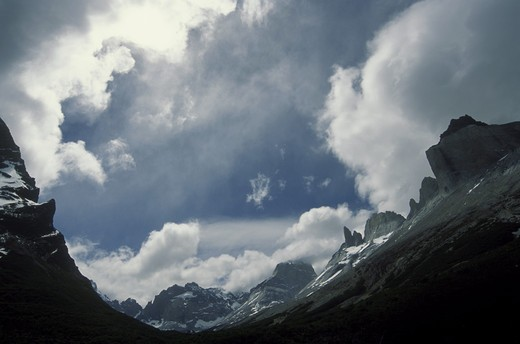 The FRENCH VALLEY - TORRES DEL PAINE NATIONAL PARK, PATAGONIA, CHILE : Stock Photo