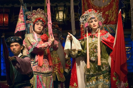 Stock Photo: 1886-51428 Chinese Opera stars preform - Chengdu, China in Sichuan Province