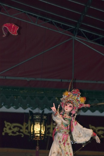 Female Puppet in a traditional Chinese Puppet Show - Chengdu, China in Sichuan Province : Stock Photo