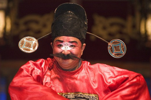 Stock Photo: 1886-51457 Comedian performs in a drama - Chengdu, China in Sichuan Province