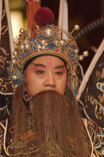 Stock Photo: 1886-51462 Male star in full costume at Chinese Opera - Chengdu, China in Sichuan Province