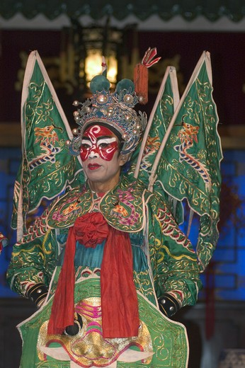 Stock Photo: 1886-51464 Male star in full costume at Chinese Opera - Chengdu, China in Sichuan Province