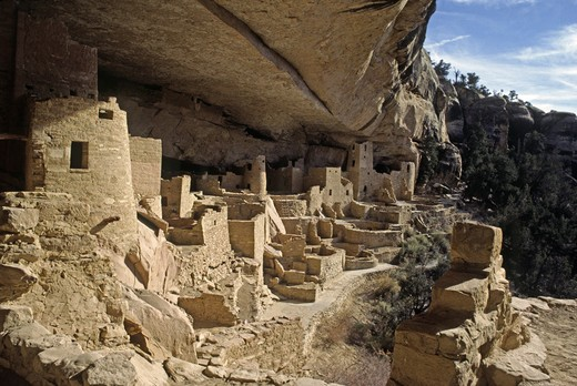 CLIFF PALACE is the most extensive ANASAZI ruin of MESA VERDE NP (1200 AD) : Stock Photo