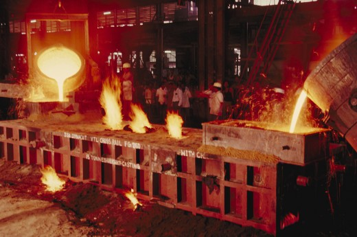 Steel;  Metal Pouring : Stock Photo