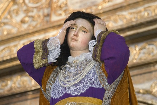 Stock Photo: 1886-53646 Statue of MARY MAGDALENE ready for Easter Procession in the TEMPLO DEL ORATORIO DE SAN FELIPE NERI - SAN MIGUEL DE ALLENDE, MEXICO