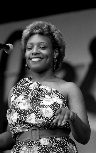 Stock Photo: 1886-53908 LITTLE MILTONS back up singer at the MONTEREY JAZZ FESTIVAL - MONTEREY, CALIFORNIA