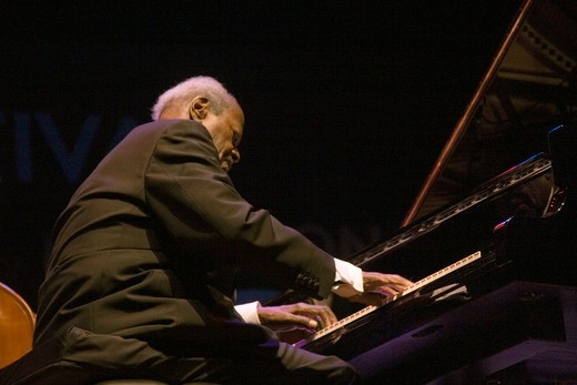 Stock Photo: 1886-53921 OSCAR PETERSON performs at THE MONTEREY JAZZ FESTIVAL