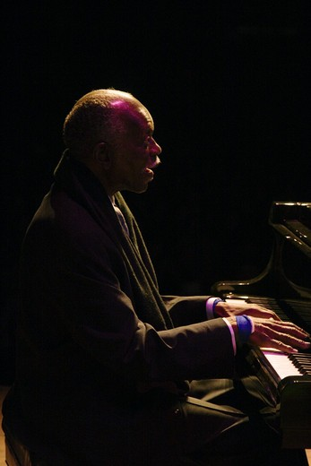 Stock Photo: 1886-53923 HANK JONES (Piano) performs at THE MONTEREY JAZZ FESTIVAL
