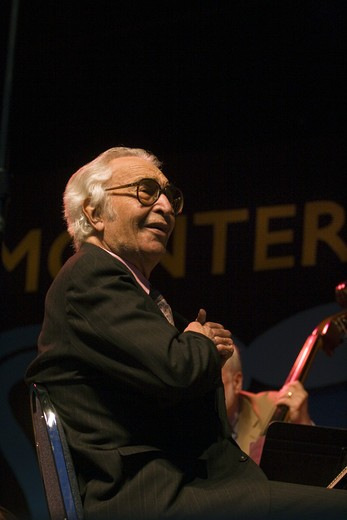 Stock Photo: 1886-54099 DAVE BRUBECK (Piano) performs the CANNERY ROW SUITE at THE MONTEREY JAZZ FESTIVAL