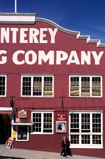 Monterey Canning Company on historical CANNERY ROW - MONTEREY, CALIFORNIA : Stock Photo