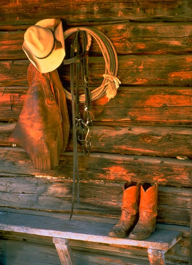 Stock Photo: 1886-56900 Cowboy gear