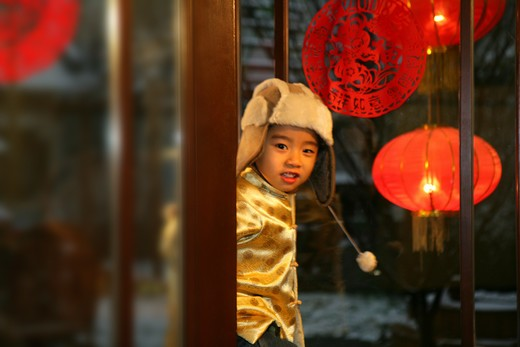 Stock Photo: 1886-58109 Oriental Child,Festival