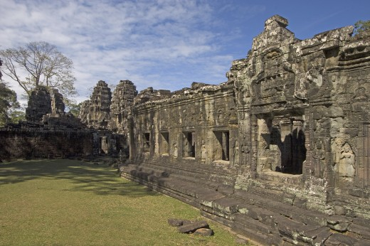 Stock Photo: 1886-5841 The Hall of Dancers at Banteay Kdei, built by Jayavarman VII in the Bayon style, part of Angkor Wat - Siem Reap, Cambodia