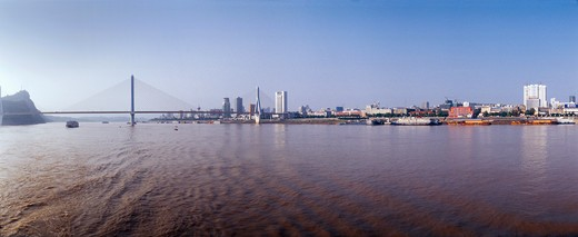 Bridge Over River Yangtze : Stock Photo