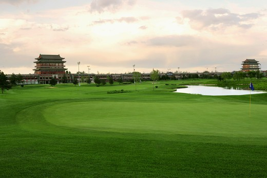 Stock Photo: 1886-59072 Buildings In Golf Course