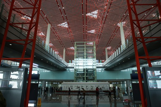 Stock Photo: 1886-59225 New Air Transport Building,Beijing,China