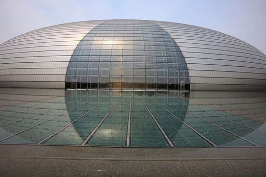 Stock Photo: 1886-59727 National Grand Theater,Beijing,China
