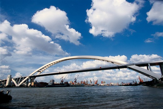 Stock Photo: 1886-60661 Lupu Bridge,Shanghai,China