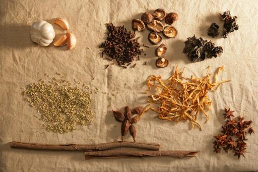 Stock Photo: 1886-60945 mixture of condiment