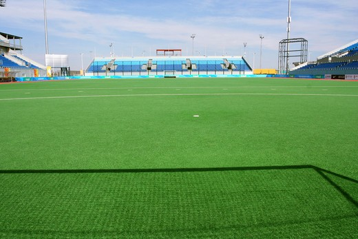 Stock Photo: 1886-61664 Olympic Green Hockey Field,Beijing,China