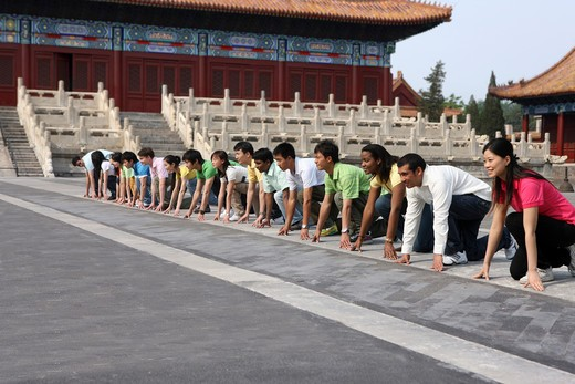 Stock Photo: 1886-61931 people from different countries being together in the Forbidden city,beijing,china