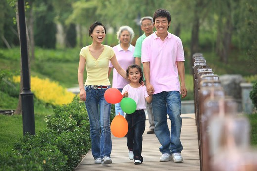 chinese families picnicing outdoors,beijing,china : Stock Photo