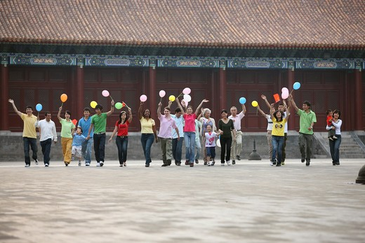Stock Photo: 1886-62403 people from different countries being together in the Forbidden city,beijing,china
