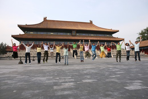 Stock Photo: 1886-62409 people from different countries being together in the Forbidden city,beijing,china