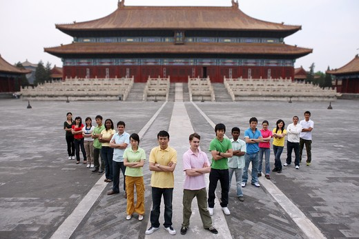 Stock Photo: 1886-62421 people from different countries being together in the Forbidden city,beijing,china