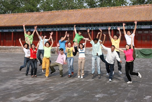 Stock Photo: 1886-62428 people from different countries being together in the Forbidden city,beijing,china