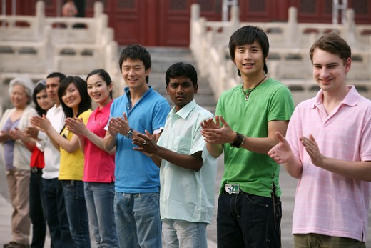 Stock Photo: 1886-62434 people from different countries being together in the Forbidden city,beijing,china