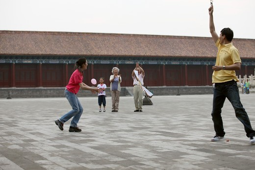Stock Photo: 1886-62437 people from different countries being together in the Forbidden city,beijing,china