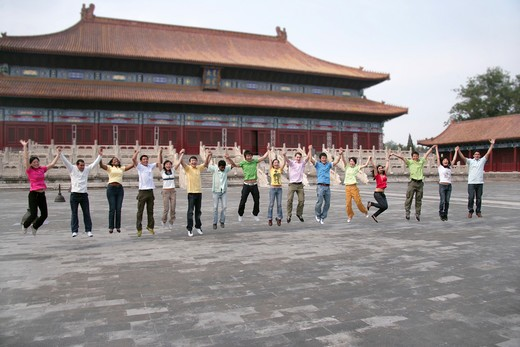Stock Photo: 1886-62440 people from different countries being together in the Forbidden city,beijing,china