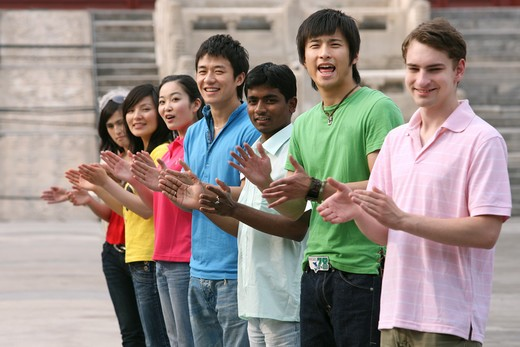Stock Photo: 1886-62444 people from different countries being together in the Forbidden city,beijing,china