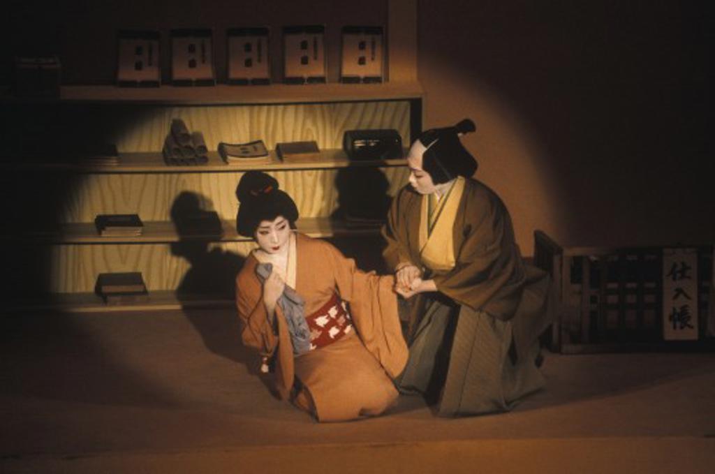 Stock Photo: 1886-6419 The POTOCHO ODORI (MAIKO DANCES) at the PONTOCHO KOBERENJE THEATRE - KYOTO, JAPAN