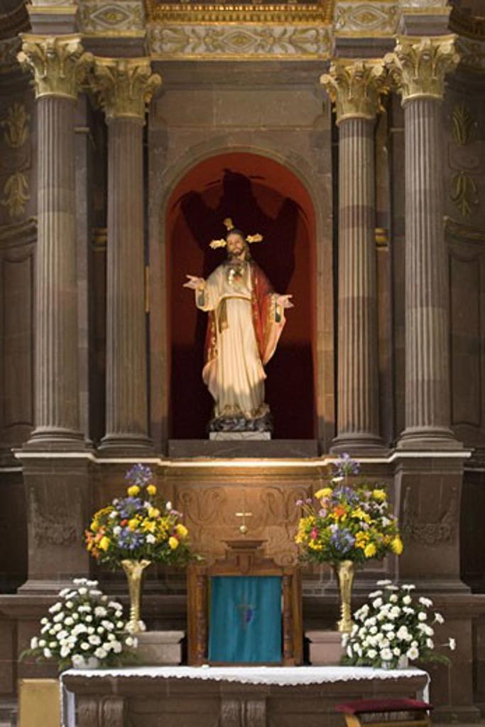 Statue of Jesus of Nazareth in Mexico : Stock Photo