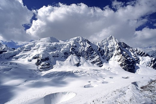 NEVADO PUCA PUNTA east of AUZANGATE - PERUVIAN ANDES : Stock Photo