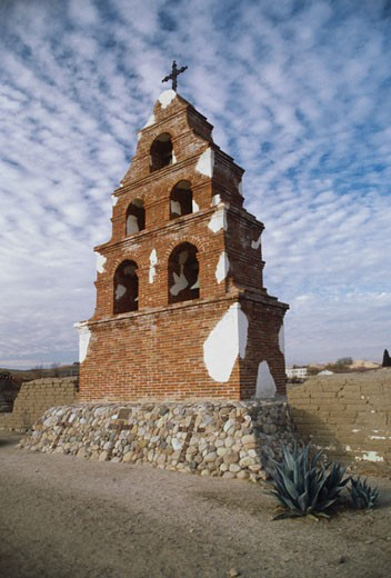 Stock Photo: 1886-7708 MISSION BELLS - SAN MIGUEL MISSION, CALIFORNIA