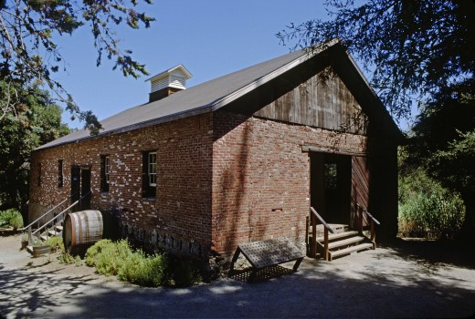 Historical building at SUNRISE WINERY - SANTA CLARA COunty, CALIFORNIA : Stock Photo